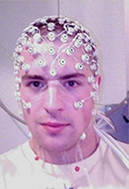 EEG machine on a person