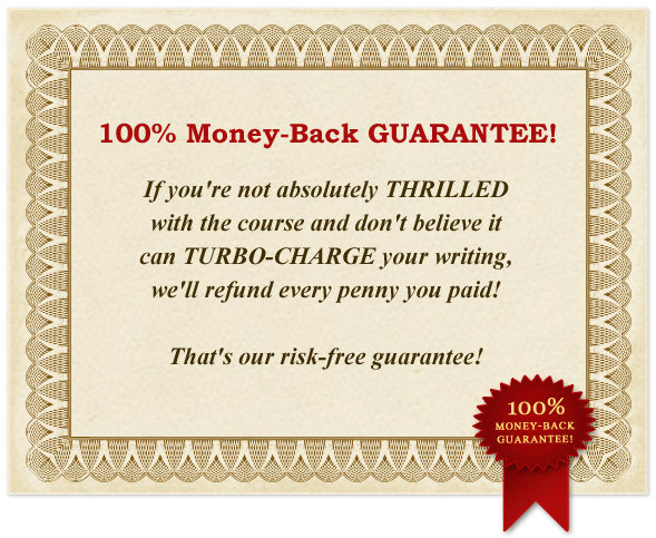 100% Money-Back Gurantee!
